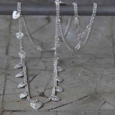 Tutti & Co Jewellery Long Silver Hearts Necklace Now £34 from www.lizzielane.com http://www.lizzielane.com/product/tutti-co-jewellery-long-silver-hearts-necklace/