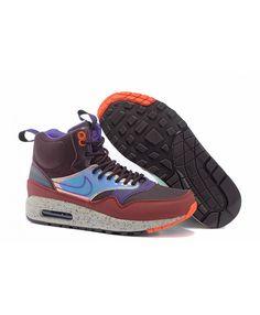 Women s Nike Air Max 1 Mid Sneakerboot LB QS Boots Deep Burgundy Sale fbeb72204a