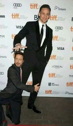 Tom Hiddleston and Robert Downey Jr.... This is hilarious.
