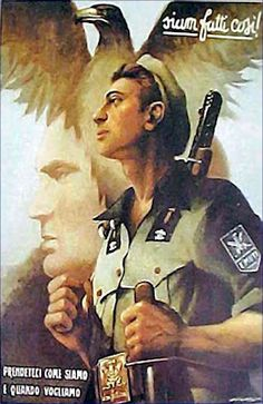 Propaganda poster - pin by Paolo Marzioli Ww2 Propaganda Posters, Political Posters, Political Art, Italian Posters, Italian Army, Military Art, Illustrations And Posters, Japan, World War Two