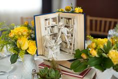 Paper centerpieces | Hotel Monaco wedding in Washington, DC- Abby Grace Photography
