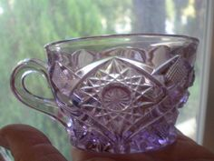 Vintage Purple Teacup or Punch Cup, Late19th Century Light Purple Manganese Glass, Pressed Glass. $18.00, via Etsy.