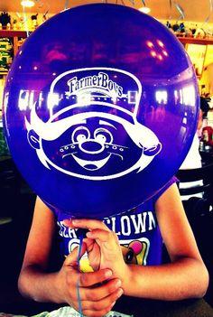 -Alicia Diaz  my sister and a FarmersBoys Balloon :) GREAT burgers :)