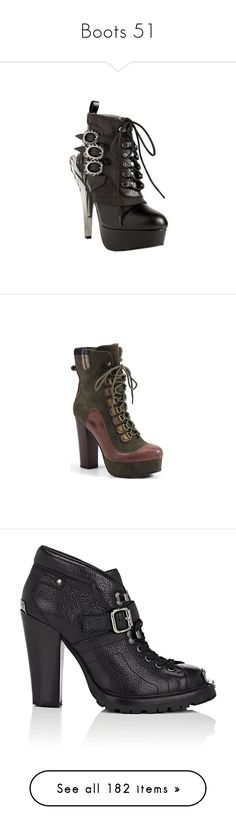"""Boots 51"" by xx-black-blade-xx ❤ liked on Polyvore featuring shoes, boots, ankle booties, black, casual, costume shoes, lace up ankle boots, lace-up bootie, black high heel booties and black lace up boots"
