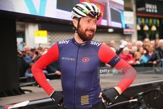 Sir Bradley Wiggins of Great Britain and Team Wiggins looks on at the start prior to Stage 3 of the Tour of Yorkshire from Wakefield to Leeds on May 3, 2015 in Wakefield, England.