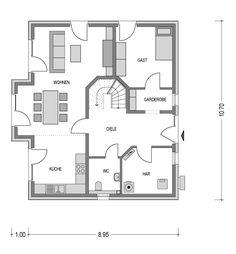 HK 159 - Heinz von Heiden Floor Plans, House Ideas, Architecture, Open Living Area, Room Layouts, Build House, House Floor Plans, Floor Plan Drawing