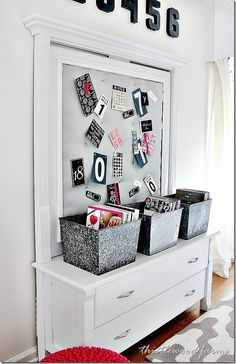 How to tuft a bulletin board! Easy project and looks so high end! thistlewoodfarms.com