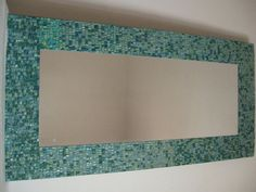 mirror with frame in glaze mosaic by mosaicandarts on Etsy