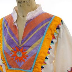 Mexican Embroidered Cotton Peasant Blouse with by nickiefrye, $38.00