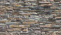 Natural California Gold Slate Glued Brick Wall Stone - Buy Brick ...
