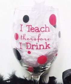 Teacher Wine Glass Personalized for work