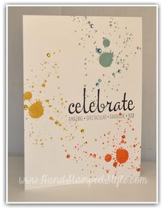 Simple one layer card with Fabulous Four and Gorgeous Grunge http://www.handstampedstyle.com