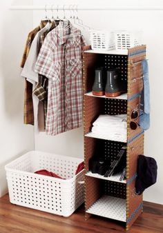 good idea to incorporate space for dirty laundry bins, no more taking up precious space in my bedroom!