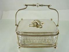 Gadroon Border Figural Top Sardine Box or Caviar Server Fabulous Unknown Maker | eBay