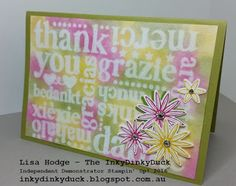 The InkyDinkyDuck - Lisa Hodge Stampin' Up!® Australia: Emboss Resist Technique With A Twist - Step It Up Class Yesterday