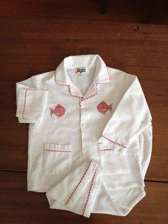 Red Fish Flannelette Pyjamas – minorbyrd.com.au Childrens Pyjamas, Cotton Pyjamas, Red Fish, Chef Jackets, Classic, Style, Fashion, Derby, Swag