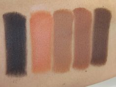 Kylie Cosmetics KYShadow The Bronze Palette Swatches (Obsidian, Citrine, Tiger…