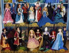 DFDC Heroes and Villains Complete Collection - Deboxed and Reposed - Disney Store Purchases Disney Barbie Dolls, Disney Princess Dolls, Disney Princess Frozen, Doll Clothes Barbie, Disney Princesses, Walt Disney, Disney Art, Disney Pixar, Disney Animators Collection