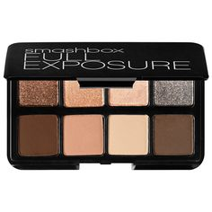 This versatile eye shadow set provides eight must-have neutrals in one portable palette. From nudes to blacks, these crease-resistant, long-wear shimmers and velvety smooth mattes are organized with shimmers on top and mattes on the bottom so that they are easy to use. #Sephora