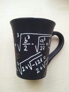 Taza para matemáticos. Diseño de Avi para Taller 35.