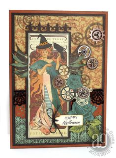 Graphic 45 Steampunk Debutante: Steampunk Halloween Card by Annette Green.