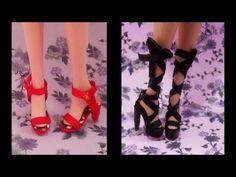 como fazer sapato para bonecas #2: sandálias para Barbie - YouTube
