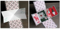 Twist And Pop Christmas Card by UlrikaWandler using BoBunny Merry and Bright Collection