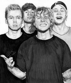 Wrapped Around Your Finger Art Print by Bianca Drawings - X-Small 5sos Drawing, Drawing Sketches, Art Drawings, Drawing Ideas, One Direction Drawings, One Direction Art, 5sos Fan Art, 5sos Funny, Finger Art