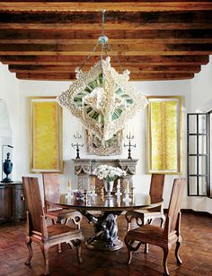 Exotic Dining Room by Fisher Weisman in San Miguel de Allende, Mexico