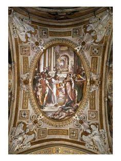 Uno degli affreschi di San Matteo (Genova): Miracolo dei draghi realizzato da Luca Cambiaso