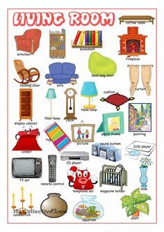 Living Room Picture Dictionary