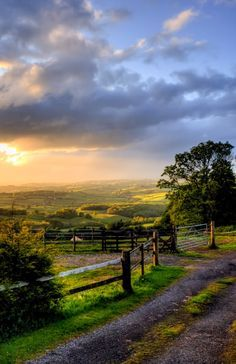 Evening in rural Monmouthshire (England) by Terry Winter