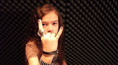 THE TROOPER – Iron Maiden cover by 11 year old Sara & Motion Device