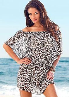 Leopard swimsuit cover-up Venus.com