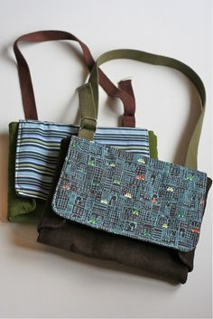 Tutorial: Really cute play mat/ messenger bag for boys