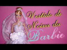 Como fazer véu e buquê para Barbie . DIY Veil and bouquet for Barbie doll - YouTube