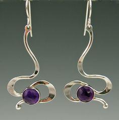 Judie Raiford-Touch of Romance Earrings Wire Wrapped Earrings, Copper Earrings, Women's Earrings, Modern Jewelry, Metal Jewelry, Silver Jewelry, Soldering Jewelry, Designer Earrings, Handcrafted Jewelry