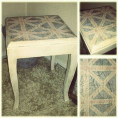 Shabbychic distressed union jack chair