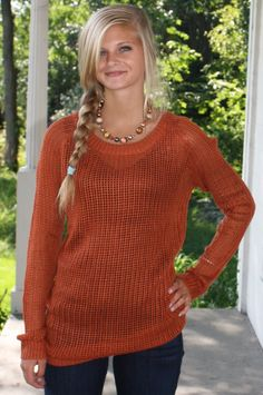 Rusty & I Know It Sweater: Rust is so big for fall fashion!