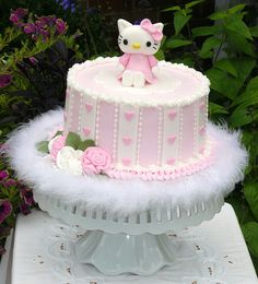 love the sides of the cake .. hate the boa and the hello kitty topper