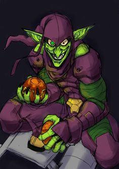 Green Goblin done quick + speedpaint by Nervousgamer on DeviantArt Comic Book Villains, Marvel Villains, Superhero Poster, Superhero Design, Marvel Comic Character, Marvel Characters, Green Goblin Spiderman, Green Lantern Hal Jordan, Marvel E Dc