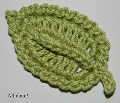 Crocheted Leaf: free pattern. ||  ♡ BEST LEAF EVER!!!  ♥A