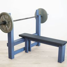Bench Press by Ben Uyeda. Get the free instructions at RYOBI Nation for this build. Home Gym Bench, Home Gym Garage, Basement Gym, Home Made Gym, Diy Home Gym, Bois Diy, Outdoor Gym, Gym Room, Weight Benches