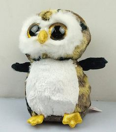 "6"" New TY Beanie Boos Owliver Camo Owl Plush Stuffed Toy Animal Doll"