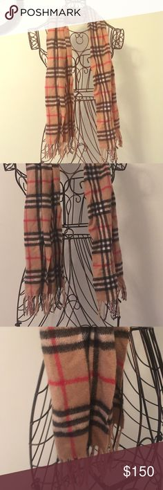 Authentic Burberry brown cashmere check scarf Authentic Burberry church scarf - 100% cashmere Burberry Accessories Scarves & Wraps