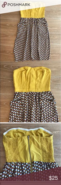 """XHILARATION STRAPLESS SUN DRESS Condition: EUC, No flaws, no rips, holes or stains. Bust:16"""" stretches back, length: 28 Smoke free home/Pet hair free No trades, No returns No modeling  Shipping next day. Beautiful package! I LOVE OFFERS, offer me! ALL ITEMS ARE OWNED BY ME. NOT FROM THRIFT STORES All transactions video recorded to ensure quality.  Ask all questions before buying Xhilaration Dresses Strapless"""