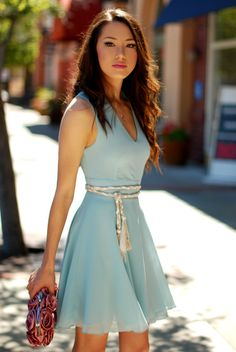 hapatime chiffon blue circle skirt dress, because I have mine like this to alter