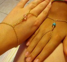 Diy slave bracelets. Just made these for my little sister and myself. :D