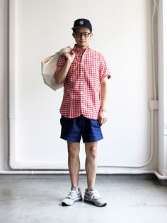 maillot_20160712IMG_8162_edited-1 Weekend Style, Weekend Wear, Stylish Men, Men Casual, Cool Style, My Style, Japanese Outfits, Men Style Tips, Flannel Shirt