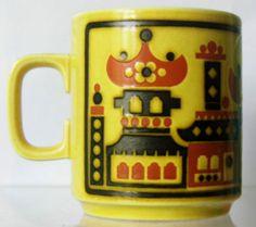 Hornsea Pottery Pagodas Mug John Clappison 1976 | eBay